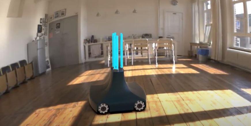 robot per la disinfezione degli ambienti